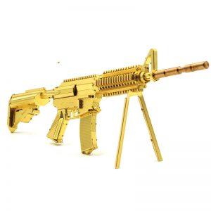 Microworld 21CM M4A8 Carbine Gun G001 Diy 3D Metal Model Kits Nano Puzzle  Laser Cut Assemble Jigsaw Toys