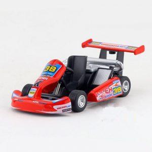 Kinsmart 5 inch Go-Kart Racing Car Model Diecast Metal Car Toy Pull Back  Gift For Children Kids