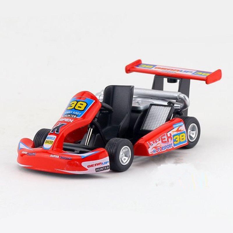 Kinsmart 5 inch Go-Kart Racing Car Model Diecast Metal Car Toy Pull