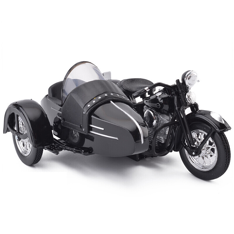 Maisto Harley Davidson 1948 FL Panhead W Sidecar Motorcycles 1/18 Scale  Diecast Metal Bike Model Toy For Collection Kids Gift