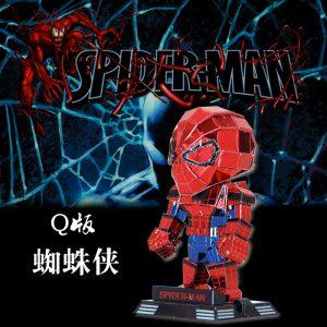 Mini Spiderman 3d Metal Model Kits Diy Assemble Puzzle Jigsaw Toy
